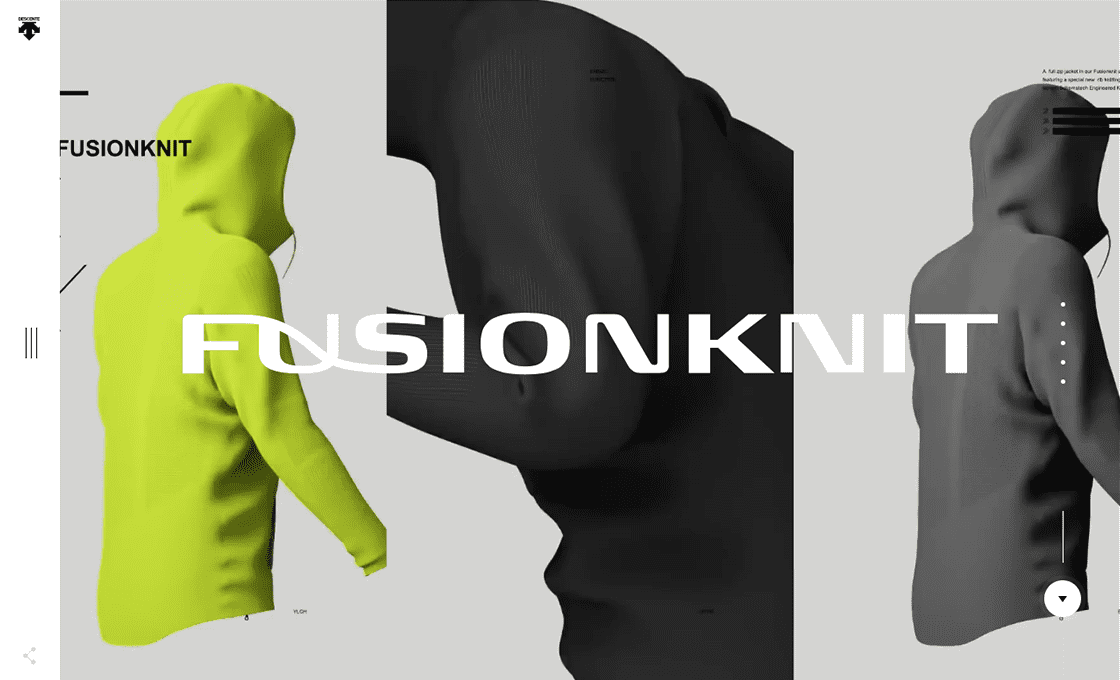 DESCENTE FUSIONKNIT OFFICIAL SITE